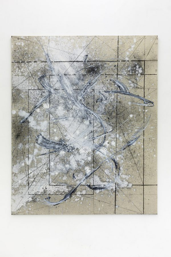 Michi Lukas 2015 o.T. 165 x 200cm Oil pigment and aquarell-stick on canvas